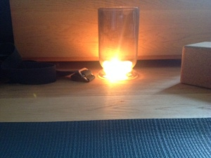 mat and candle