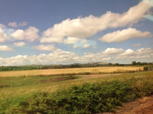 The beautiful English countryside on my journey