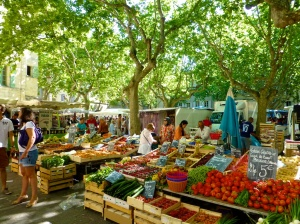 our local market on holiday
