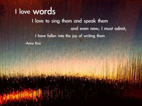 i love words quote