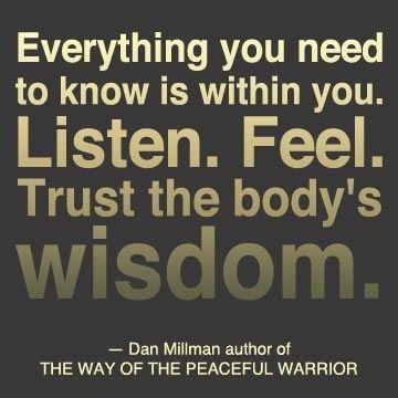 trust the body quote