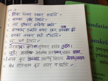 sanskrit marked homework.JPG