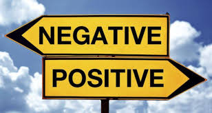 negative and positive signs