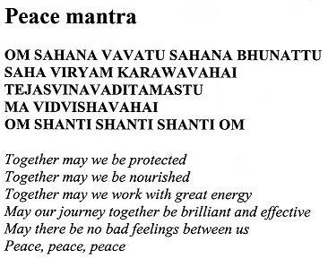 togetherness mantra